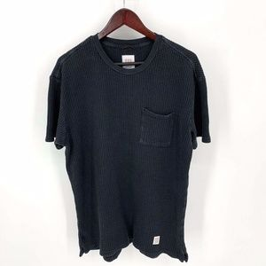 Topo Designs Shirts - TOPO Designs Waffle Tee Black Short Sleeve T-Shirt